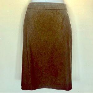 New York & Co. Brown Stretch Skirt